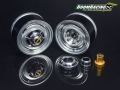 Miscellaneous All 1.55 Yota LC Classic Front Beadlock Wheels (2) with 3mm Wideners (2) Gun Metal by Boom Racing
