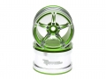 Miscellaneous All 2.2 Super Star Aluminum Beadlock Wheels (2) Green by Team Raffee Co.