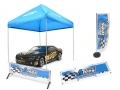Miscellaneous All Scale Accessories ATees Canopy Tent Racing Flag Banner Barrier 4Pcs Blue by ATees