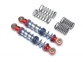Miscellaneous All Aluminum Double Spring Shocks 70mm (2) for Crawlers Red by Team Raffee Co.