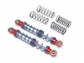 Miscellaneous All Aluminum Double Spring Shocks 80mm (2) for Crawlers Red by Team Raffee Co.
