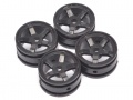 Orlandoo Hunter Model Orlandoo Hunter Jeep Rubicon 5 Spoke Wheel A 4 Pcs For OH35P01 OH35A01 Black by Orlandoo Hunter Model