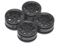 Orlandoo Hunter Model Orlandoo Hunter Jeep Rubicon 6 Spoke Wheel 4 Pcs For OH35P01 OH35A01 Black by Orlandoo Hunter Model