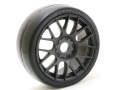 Miscellaneous All Sweep 1:8 EXP GT Racing Slick Glued Tires 40Deg. W/Belt (EVO16 Black Wheel) 2pcs by Sweep Racing