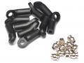 Miscellaneous All M3 Nylon Rod Ends (Upwards) 20.00MM w/ Steel Pivot Ball (5.8x3x7.4mm) (10) by Team Raffee Co.