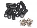 Miscellaneous All M3 Nylon Rod Ends (Sideways) 24.3MM w/ Steel Pivot Ball (5.8x3x7.4mm) (10) by Team Raffee Co.