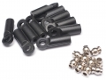 Miscellaneous All M4 Nylon Rod Ends (Straight) 21.8MM w/ Steel Pivot Ball (5.8x3x7.4mm) (10) by Team Raffee Co.
