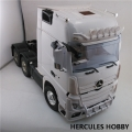 Miscellaneous All  1/14 Non Opening Door Actros High Space Open Side Tractor Truck (6X4) 3 Axle by Hercules Hobby