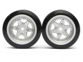 Miscellaneous All Classic Fake Tire Wall Wheel Set (2Pcs) Silver For 1/10 RC Car (6mm Offset) by Team Raffee Co.