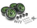 Boom Racing Miscellaneous All Sandstorm KRAIT™ 1.9 Aluminum Beadlock Wheels with 8mm Wideners (4) [Recon G6 Certified] Green