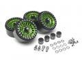 Boom Racing Miscellaneous All Venomous KRAIT™ 1.9 Aluminum Beadlock Wheels with 8mm Wideners (4) [Recon G6 Certified] Green