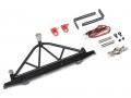 Team Raffee Co. Axial SCX10 Steel Rear Bumper W/ Shackles Led Light & Spare Tire Mount Black