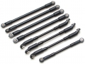 Miscellaneous All Aluminum Link Set (8) for TRC Defender D90 by Team Raffee Co.