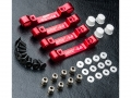 MST RMX 2.0 Aluminum Suspension Mount Set Red by MST