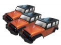 Team C Miscellaneous All Clear Wrangler Rubicon 4-Door 1/10 Rock Crawler Body (3pcs) For 313mm Chassis