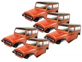 Team C Miscellaneous All Clear FJ40 1/10 Rock Crawler Body (5pcs) For 313mm Chassis
