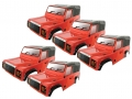 Team C Miscellaneous All Clear Defender D90 1/10 Rock Crawler Body (5pcs) 275mm Chassis