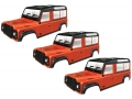 Miscellaneous All Clear Defender D110 Rock Crawler Body (3pcs) For 313mm Chassis by Team C