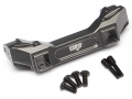 Traxxas TRX-4 Aluminum Front Bumper Mount Gun Metal by Team Raffee Co.