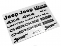 Axial SCX10 Axial SCX10 XJ - Sticker (Black) by CChand