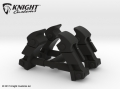 Miscellaneous All Hood Latch (2 pairs) in Black Strong & Flexible by Knight Customs