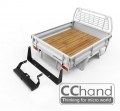 CChand Miscellaneous All LC70 Kober Rear Bed + Tire Holder (White)