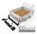 CChand Miscellaneous All LC70 Kober Rear Bed + Tire Holder + Mud Flap (White)
