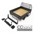 CChand Miscellaneous All LC70 Kober Rear Bed + Tire Holder + Mud Flap (Black)