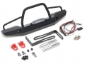 Traxxas TRX-4 Steel Tough Front Bumper W/ Hooks and Led Light 1 Set by Team Raffee Co.