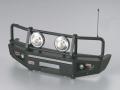 Miscellaneous All ARB 1/10 Aluminum Bull Bar Bumper w/ LED Light Upgrade Set Matt-Black for 1/10 LC70 Truck SUV Bullbar by Killerbody