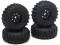 RGT 1/24 ADVENTURER Swamper Tire & Wheel Set (4pcs) Black for ECX Barrage/ FTX Outback/ RGT Adventurer by RGT