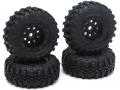 RGT 1/24 ADVENTURER Swamper Tire & Wheel Set (Black) for ECX Barrage/ FTX Outback/ RGT Adventurer by RGT