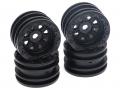 RGT 1/24 ADVENTURER Wheel Set (Black) for ECX Barrage/ FTX Outback/ RGT Adventurer by RGT