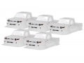 Miscellaneous All LC70 Clear Lexan 1/10 Crawler Body (5pcs) For 313mm Chassis by Team C