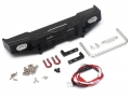 Team Raffee Co. Miscellaneous All Aluminum Front Bumper w/ White LED And Towing Hooks For Defender D90 D110