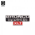 Traxxas TRX-4 Side Front Color Metal Logo for Traxxas TRX4 Bronco by GRC