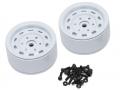 Team Raffee Co. Miscellaneous All 1.9 High Mass Steelie 6 Lug Beadlock Wheels Type B (2) White