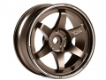 Miscellaneous All 1:10 Metal Wheel + 9 Team DC Racing TE37 Bronze Drift Wheel For EP 1:10 RC Cars Drift On Road RWD AWD DCA-9113 (4Pcs) by Team DC