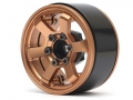 Boom Racing Miscellaneous All TE37LG KRAIT™ 1.9 Aluminum Beadlock Wheels w/ XT606 Hubs (4) Bronze