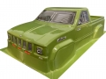 Team C Miscellaneous All TRX4 1/10 Crawler Body For 324mm Chassis (PVC) Green Colour