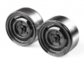 Miscellaneous All 1.9 Metal Classic Beadlock Wheel #Series II Defender (2) Black by GRC