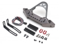 Team Raffee Co. Axial SCX10 CNC Aluminum Rubicon Front Bumper with LED Gun Metal