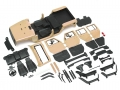 Team Raffee Co. Miscellaneous All 5 Door Open-Top Rubicon Hard Body for 1/10 Crawler 313mm Kit Version Desert Yellow
