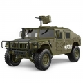 TRASPED HG-P408 HG P408 1/10 4WD 2.4G 16CH 30+km/h US Military Truck Crawler w/ LED Light & Engine Sound Module ARTR Green by TRASPED