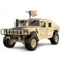 TRASPED HG-P408 HG P408 1/10 4WD 2.4G 4CH US Military Truck Crawler ARTR w/ LED Light & Engine Sound Module & Pistol Transmitter Desert Yellow by TRASPED