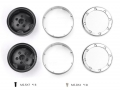 Miscellaneous All 1.9 Metal Beadlock Wheel for TRX4 Defender & TRC Rover SUV First Gen Black by GRC