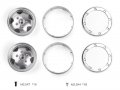 Miscellaneous All 1.9 Metal Beadlock Wheel for TRX4 Defender & TRC Rover SUV First Gen Silver by GRC