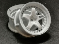 Miscellaneous All Drift Element Wheel - Adj. Offset (2) / Triple White with Black Rivets by DS Racing