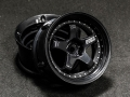 Miscellaneous All Drift Element Wheel - Adj. Offset (2) / Triple Black with Silver Rivets by DS Racing