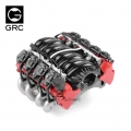 GRC Miscellaneous All LS7 Simulated V8 Engine/ Motor Heat Sink Cooling Fan For Crawler 36mm Motor Red